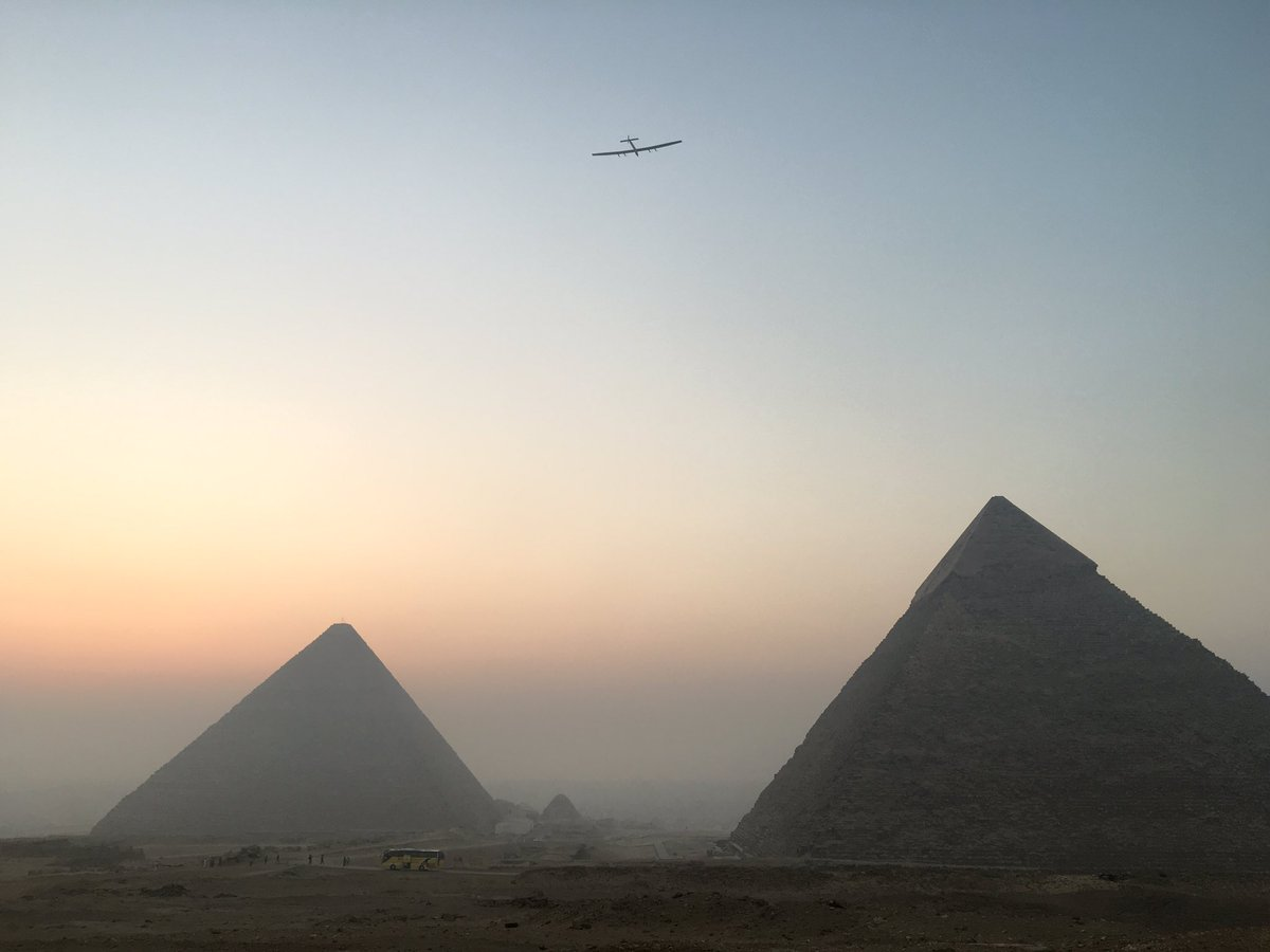 Solar plane lands in Egypt