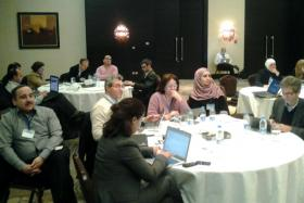 Snapshots from H2020 training's sessions